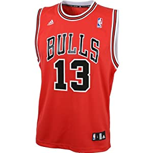 NBA adidas Joakim Noah Chicago Bulls Youth Revolution 30 Performance Jersey - Red by adidas