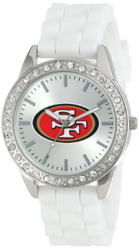 Game Time Women's NFL-FRO-SF Frost NFL Series San Francisco 49ers 3-Hand Analog Watch at Amazon.com