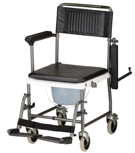 NOVA 8805 Drop Arm Shower Transport Chair Commode