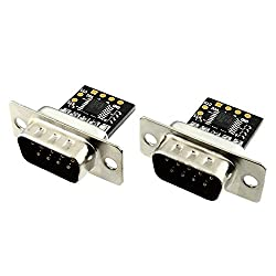 2 Pcs (Male Duo) - Ultra Compact RS232 to TTL Converter with Male DB9 (3V to 5.5V)