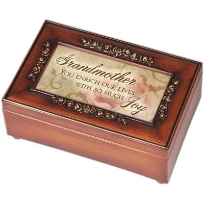 Woodgrain Petite Rose Grandmother Music Box - Perfect Grandmother Gift