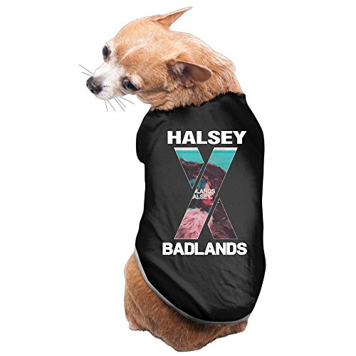 [Bro-Custom Halsey Badlands T Shirt For Pet Size L Black] (Tumblr Pugs In Costumes)