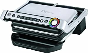 T-fal GC702D OptiGrill Stainless Steel Indoor Electric Grill, 1800-watt, Silver from T-fal