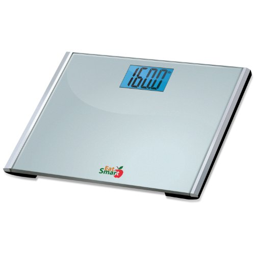 Cheap Eatsmart Precision Plus Digital Bathroom Scale with Ultra Wide Platform and Step-on Technology, 440-Pounds (ESBS-05)