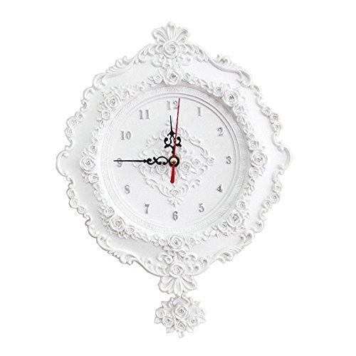 Homep Classic Antique Ultra Silent Resin Wall Clocks (diameter:24.5cm*24.5cm)