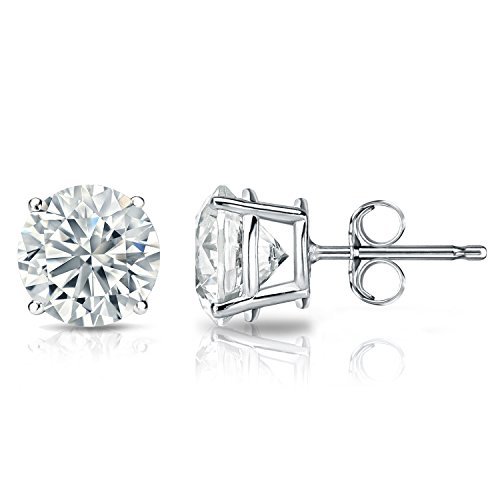 GIA Certified Platinum Round Diamond Stud Earrings 4-Prong (5.20 cttw, E-F Color, VS2-SI1 Clarity) (Gia Diamond Earrings Platinum compare prices)