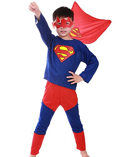 Chuangmei Children's Halloween Costume Spiderman Tights Superman Batman Suit