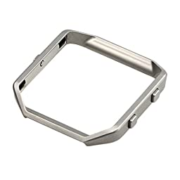 bayite Replacement Accessory Stainless Steel Frame for Fitbit Blaze Smart Watch Silver
