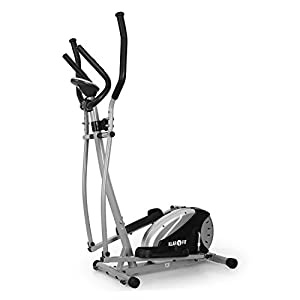 Klarfit ELLIFIT Basic 20 Cardio Trainer d'intérieur - Crosstrainer ergomètre complet - Vélo elliptique (8 paliers, <100kg, certifié norme allemande) - Acier design