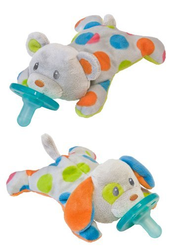 Mary Meyer Wubbanub Confetti Teddy And Puppy Friends front-917086