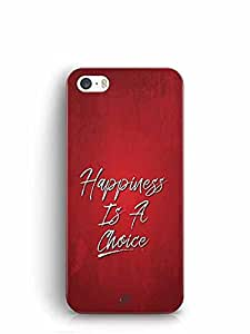 YuBingo Happiness is a Choice Designer Mobile Case Back Cover for Apple iPhone 5
