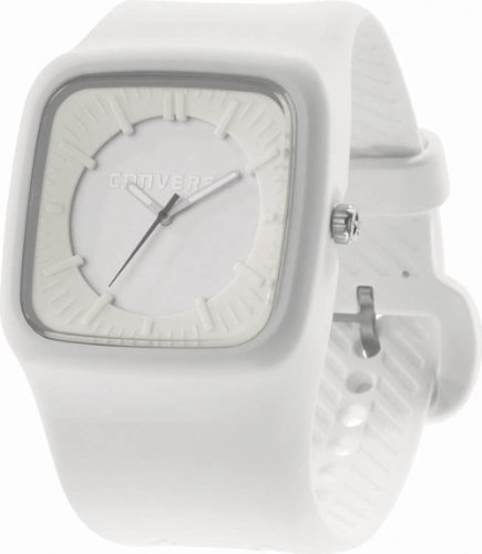 Converse Men's VR004100 Clocked Classic Analog and White Silicone Strap Watch