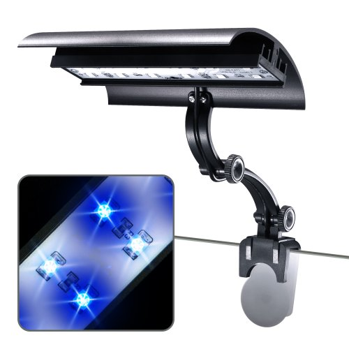 Wave-Point 3-Watt Micro Sun Super Blue And Daylight Led Clamp On Light, 6-Inch