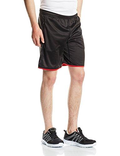 Jack & Jones Tech-Pantaloncini da uomo jjtctraining12, Uomo, T-shirt JJTCTRAINING12, Knitted Shorts, nero, M