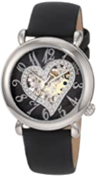 Stuhrling Original Women's 109SW.121B1 Amour Aphrodite Delight Automatic Skeleton Black Leather Watch