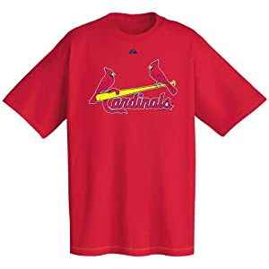 MLB St. Louis Cardinals Wordmark T-Shirt Red, X-Large