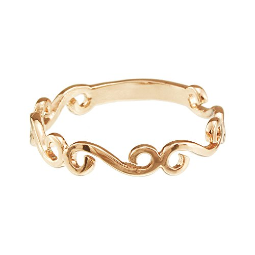 FM42 Swirl Pattern Hollow Band Ring R235 Size 8