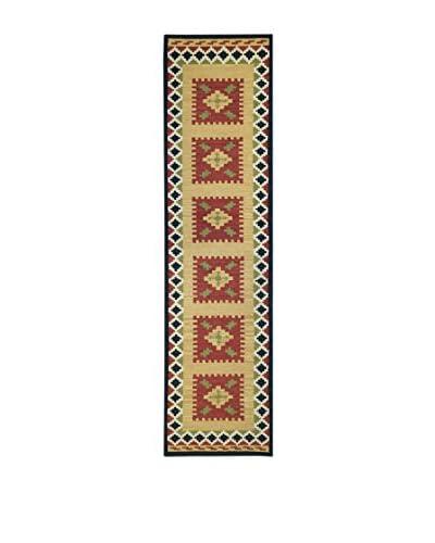 Jute & Co. Tappeto Kilim In Lana Tessuto A Mano 76 x 305 cm
