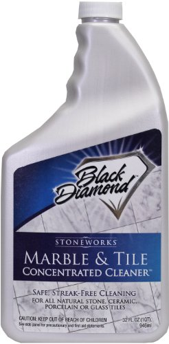 Black Diamond Marble & Tile Floor Cleaner. Great for Ceramic, Porcelain, Granite, Natural Stone, Vinyl & Linoleum . No-rinse Concentrate (Quart) (Tile And Floor Cleaner compare prices)