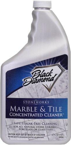 Black Diamond Marble & Tile Floor Cleaner. Great for Ceramic, Porcelain, Granite, Natural Stone, Vinyl & Linoleum . No-rinse Concentrate (Quart)