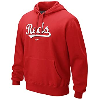 Amazon.com: Nike Cincinnati Reds Classic Pullover Hoodie - Red (Large