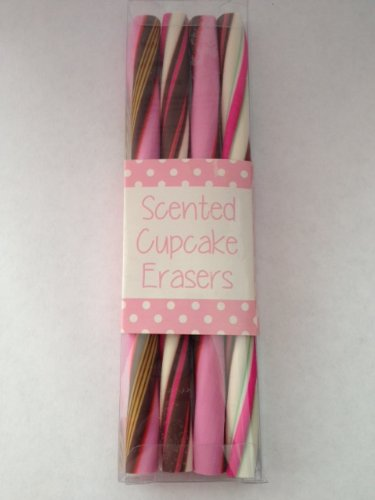 "Scented Cupcake Twist Erasers by Victory (Set of 4, 6.25"" Erasers)"