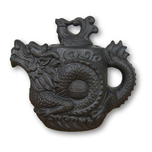 LightningStore Black Red Ancient Antique Kung Fu Black Brown Dragon Tea Pot Cup Kettle - Made of Clay - A Must Have For Tea Lovers (Pooh Tea Kettle compare prices)