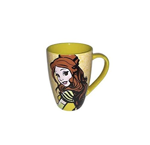 Disney Parks Belle Mornings Coffee Mug - Disney Parks Exclusive & Limited Availability + Double Sided Belle Stamp Included
