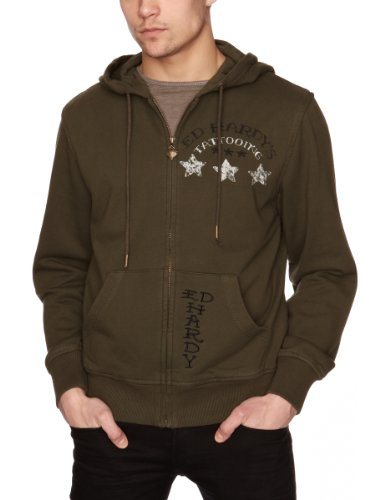 Ed Hardy Army Dogs Special Men's Hoodie Army Medium