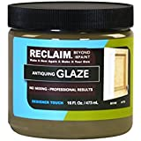 RECLAIM ANTIQUING GLAZE 16 fl. oz. Jar / Easy Application • Brush or Roll-On, Wipe-Off / gives the effect of character, depth or age to any piece of furniture, cabinetry, molding or accessory