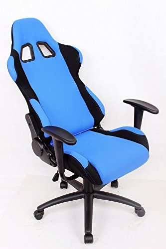 Ez Lounge Racing Car Seat Office Jeep Gaming Chair Blue