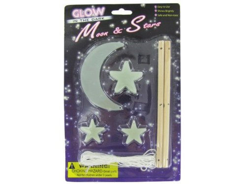 Glow In The Dark Moon And Star Mobile Kit - 1