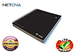 LIVESCRIBE 3-SUBJECT LINED NB 3-BLK- With Free NETCNA Printer Cable - By NETCNA