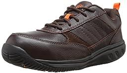 Rockport Work Men\'s Nice Ride RK6150 Work Shoe, Brown, 9 W US