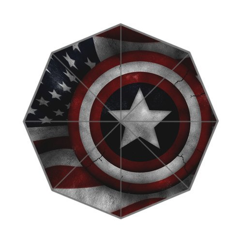 The Avengers Captain America Shields Custom Auto Foldable Umbrella