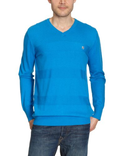 Rip Curl Tonal Stripes V-Neck Men's Jumper Blue Aster Large