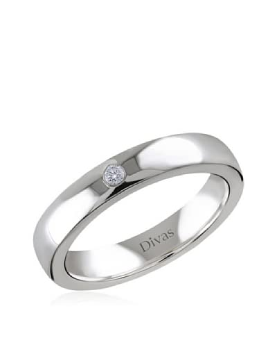 Divas Diamond Anello 0.03 ct Diamond Engagement [Argento]