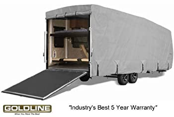 Goldline Toy Hauler RV Cover - Fits 16 to 18 FT. Trailer - GREY