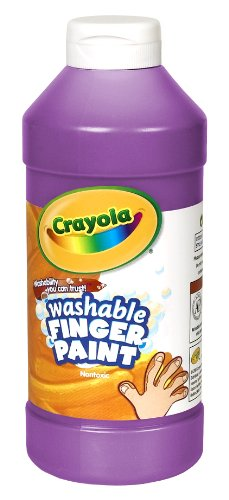 Crayola Washable Fingerpaint 32-Ounce Plastic Squeeze Bottle, Violet Purple