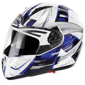 Airoh casque de moto pTXRO18 pit roller one, bleu, taille :  60
