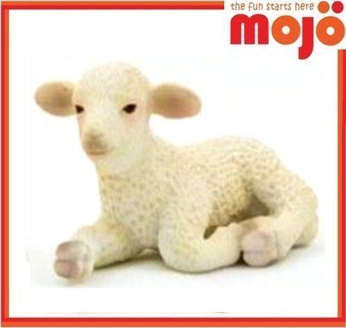MOJO LAMB HAND PAINTED REPLICA FARM ANIMAL COLLECTABLE TOYS FIGURES 387099 - 1