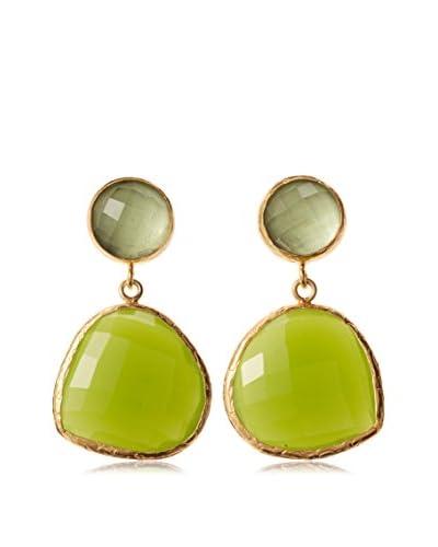 Coralia Leets Green Serpentine Double Drop Earrings As You See