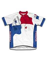Panama Flag Short Sleeve Cycling Jersey for Women
