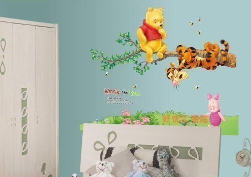 winnie-the-pooh-and-tigger-on-tree-removable-wall-sticker-decals-by-wall-stickers-warehouse
