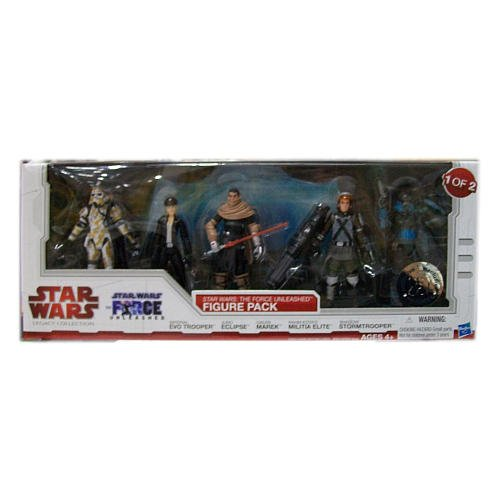 Buy Low Price Hasbro Star Wars 2010 Legacy Collection Exclusive Force Unleashed Action Figure 5Pack #1 Imperial EVO Trooper, Juno Eclipse, Galen Marek, Rahm Kota's Militia Elite & Shadow Stormtrooper (B003JJRK5C)