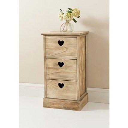 Holly decorative cuore tagliato maniglie a 3cassetti unità