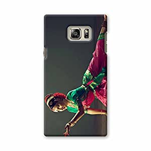 ArtzFolio Indian Classical Dance : Samsung Galaxy Note 5 Matte Polycarbonate Original Branded Mobile Cell Phone Designer Hard Shockproof Protective Back Case Cover Protector