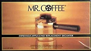 Mr. Coffee Espresso Carafe Assembly w/ Lid, Black 4 Cup from Mr coffee