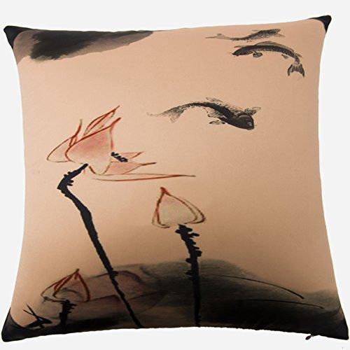 [Più colori]/Cuscino moderno stile cinese/PP cuscino in cotone/Divano letto abbraccio federa-C 45x45cm(18x18inch)