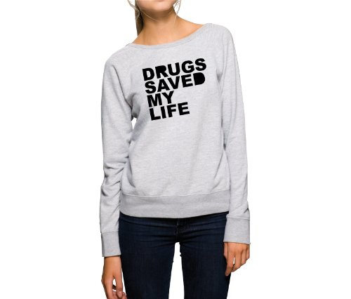 drugs-saved-my-life-sweater-girls-gris-xl
